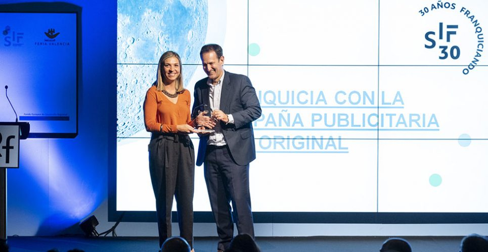 Ricardo Santiago de Dios recogiendo el Premio_Franquicia